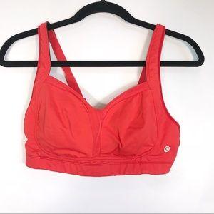 Lululemon Ta Ta Tamer II Bra, Red Size 36C